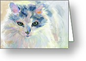 Haired Greeting Cards - My Roomie Dottie Greeting Card by Kimberly Santini