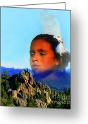 Lakota Greeting Cards - My Sacred Black Hills Greeting Card by Terril Heilman