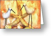 Poster From Greeting Cards - My Sandpipers Greeting Card by Marsha Heiken