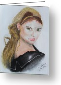 Face Greeting Cards - My sister Greeting Card by Jose Valeriano