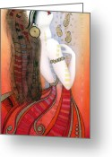 Albena Greeting Cards - My Soul Is A Moan... Greeting Card by Albena