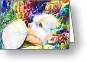 Surreal Art Greeting Cards - My Soul Greeting Card by Kd Neeley