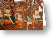 Dance Shoes Greeting Cards - My Spirit Rises In Fall Greeting Card by Amira Najah Whitfield