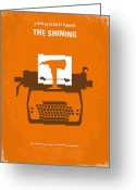 Typewriter Greeting Cards - My The Shining minimal movie poster Greeting Card by Chungkong Art