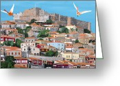 Eftalou Greeting Cards - My Town  Greeting Card by Eric Kempson