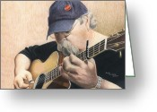 Taylor Guitar Greeting Cards - My True Love Greeting Card by Ana Tirolese