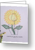 Drawing Pyrography Greeting Cards - My Way Greeting Card by Andy Mulle