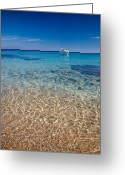Europe Greeting Cards - Mykonos beach Greeting Card by Neil Buchan-Grant