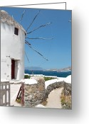 Paddles Greeting Cards - Mykonos Greeting Card by Laura Melis