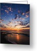 South Carolina Beach Greeting Cards - Myrtle Beach South Carolina Sunrise Greeting Card by Stephanie McDowell
