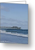 Myrtle Beach South Carolina Greeting Cards - Myrtle Beach State Park Pier Greeting Card by Teresa Mucha