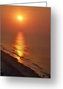 Myrtle Beach South Carolina Greeting Cards - Myrtle Beach Sunrise Greeting Card by Bill Noonan