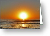 Myrtle Beach South Carolina Greeting Cards - Myrtle Beach Sunrise Greeting Card by Steven  Michael