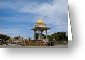 Traffic Greeting Cards - Mysore Palace Greeting Card by Nila Newsom