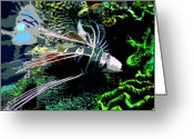 Sea Life Digital Art Greeting Cards - Mysteries of the Deep Greeting Card by David Lee Thompson