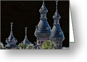 Minarets Greeting Cards - Mysterious Minarets Greeting Card by Carol Groenen