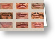 American Cowboy Digital Art Greeting Cards - Mystery Mouths of the Action Genre Greeting Card by Mitch Frey