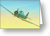 Racer Digital Art Greeting Cards - Mystery T-6 2010 Reno Air Races Greeting Card by Gus McCrea