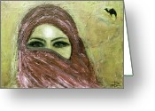 Expressive Pastels Greeting Cards - Mystery Within Greeting Card by Rena Marzouk