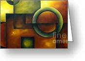 Colorful Photography Painting Greeting Cards - Mystic Arena Greeting Card by Uma Devi