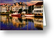 Painterly Greeting Cards - Mystic CT Greeting Card by Sabine Jacobs