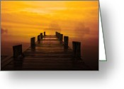 Sunset Scenes. Digital Art Greeting Cards - Mystic Dawning Greeting Card by Kim Shatwell-Irishphotographer
