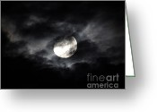 Spooky Moon Greeting Cards - Mystic Moon Greeting Card by Al Powell Photography USA