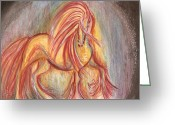 Remy Francis Greeting Cards - Mystic Series - Equine Greeting Card by Remy Francis