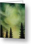 Heavens Pastels Greeting Cards - Mystic Sky Greeting Card by Richard Van Order