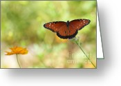 Etherial Greeting Cards - Mystical Queen Butterfly Greeting Card by Sabrina L Ryan