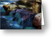 Seafoam Greeting Cards - Mystical Springs Greeting Card by DigiArt Diaries by Vicky Browning