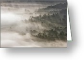 Mountains Photographs Greeting Cards - Mystical Valley Greeting Card by Rob Travis