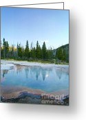 Wall Calendars Greeting Cards - Mystical Yellowstone Pool Greeting Card by Brent Parks