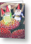 Gnome Greeting Cards - Mythical Greeting Card by Catherine G McElroy