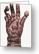 Fingertips Greeting Cards - Mythological Hand Greeting Card by Photo Researchers