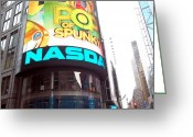 Nasdaq Greeting Cards - N A S D A Q Color Greeting Card by Brianna Thompson