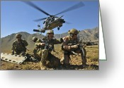 Uniforms Greeting Cards - N Hh-60g Pave Hawk Hovers Greeting Card by Stocktrek Images