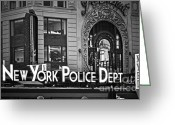 New York City Police Greeting Cards - N Y P D Greeting Card by Gwyn Newcombe