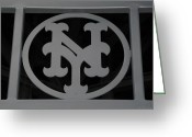 N.y. Mets Greeting Cards - N Y Greeting Card by Rob Hans
