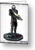 Frederico Borges Greeting Cards - N7 soldier v2 Greeting Card by Frederico Borges
