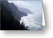 Na Pali Coast Kauai Greeting Cards - Na Pali Coast Greeting Card by Ellen Henneke