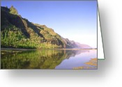 Sky Studio Greeting Cards - Na Pali Coast  Kauai  Greeting Card by Kevin Smith
