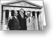 Thurgood Greeting Cards - Naacp Attorneys, 1954 Greeting Card by Granger