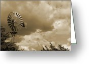 Naco Greeting Cards - Naco Windmill Greeting Card by Stephen Ogle