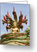 Spirituality Digital Art Greeting Cards - Naga Greeting Card by Adrian Evans