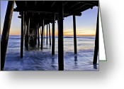 Beach Photographs Greeting Cards - Nags Head Pier - A Different View Greeting Card by Rob Travis