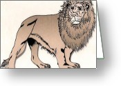Protector Drawings Greeting Cards - Nairobi Greeting Card by Kurtis Miller