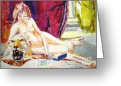 Lion Greeting Cards - Naked Truth Greeting Card by Judy Kay