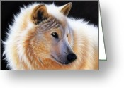 Airbrush Greeting Cards - Nala Greeting Card by Sandi Baker