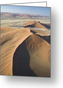 Mound Painting Greeting Cards - Namib Desert Greeting Card by Unknown
